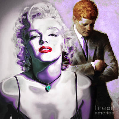 Photograph - Marilyn Monroe And John F Kennedy 20160106 by Wingsdomain Art and Photography