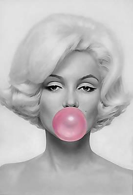 Mixed Media - Marilyn Monroe Art by Marvin Blaine