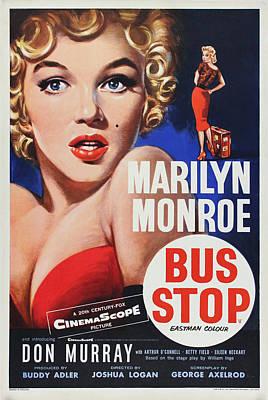 Monroe Digital Art - Marilyn Monroe - Bus Stop by Georgia Fowler