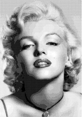 Digital Art - Marilyn Monroe - Bw Hexagons by Samuel Majcen