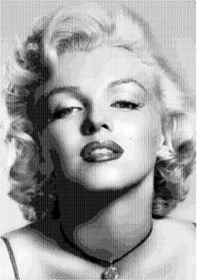Digital Art - Marilyn Monroe - Bw Hexagons by Samuel Majcen