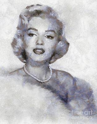 Actors Royalty-Free and Rights-Managed Images - Marilyn Monroe by Sarah Kirk by Sarah Kirk