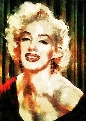 Digital Art - Marilyn Monroe by Charmaine Zoe