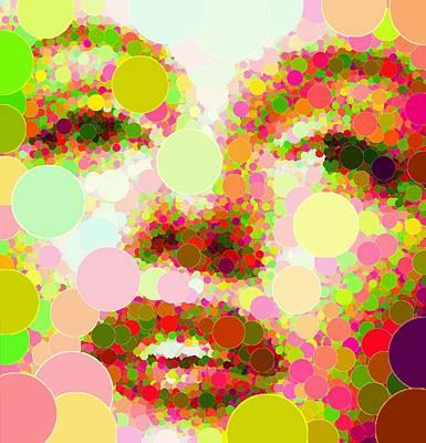 Painting - Marilyn Monroe - Circles by Samuel Majcen
