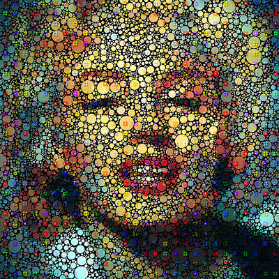 Digital Art - Marilyn Monroe Circles by Yury Malkov