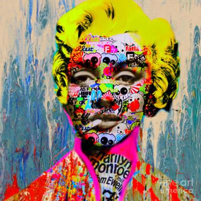 Dadaismus Painting - Marilyn Monroe Dadaismus by Felix Von Altersheim