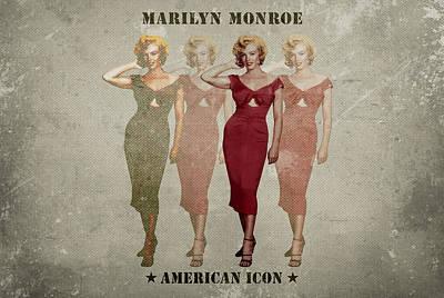 Songstress Digital Art - Marilyn Monroe by David Richardson