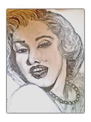 Drawing - Marilyn Monroe by Dayna Winters