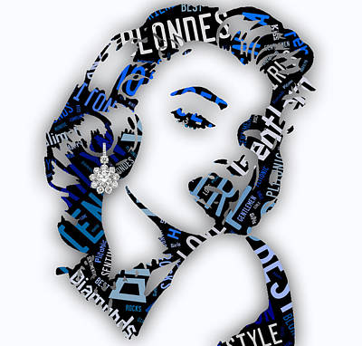 Marilyn Monroe Diamonds Are A Girls Best Friend Print by Marvin Blaine