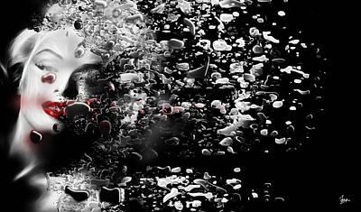 Rhythm And Blues Digital Art - Marilyn Monroe Digital  by Sir Josef - Social Critic -  Maha Art