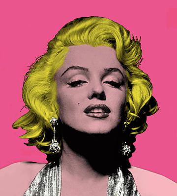Mixed Media - Marilyn Monroe Diva by Dan Haraga
