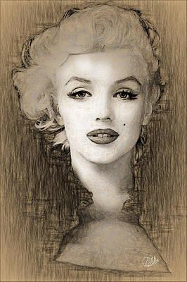 Marilyn Monroe Drawing - Marilyn Monroe Divine  by Quim Abella