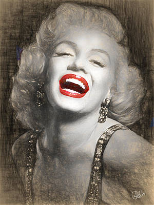 Icon Drawing - Marilyn Monroe Pencil Drawing by Quim Abella