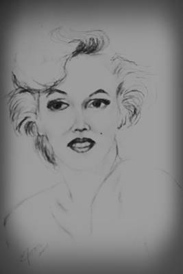 Drawing - Marilyn Monroe by Edgar Torres