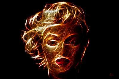 Rhythm And Blues Digital Art - Marilyn Monroe Electric C 1 by Sir Josef - Social Critic -  Maha Art