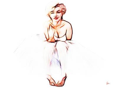 Rhythm And Blues Digital Art - Marilyn Monroe Electric C 7 by Sir Josef - Social Critic -  Maha Art