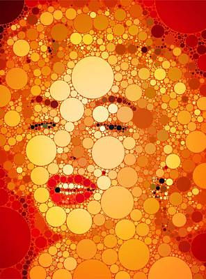 Singer Digital Art - Marilyn Monroe by Esoterica Art Agency