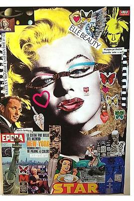 What Is Life Mixed Media - Marilyn Monroe Fashion Doe 1962 by Francesco Martin