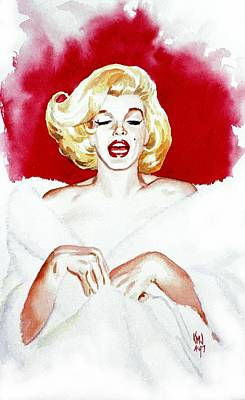 Marilyn Monroe Glamour Goddess Art Print by Ken Meyer