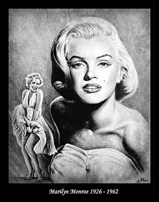 Musicians Drawings - Marilyn Monroe Hollywood great by Andrew Read