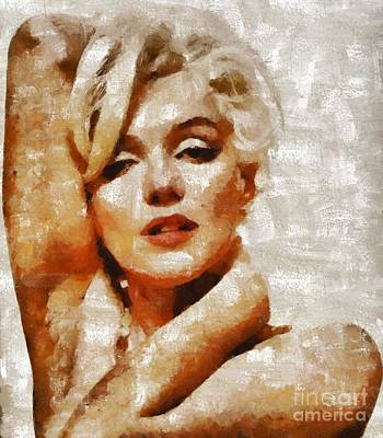 Actors Royalty-Free and Rights-Managed Images - Marilyn Monroe, Hollywood Legend by Mary Bassett by Mary Bassett