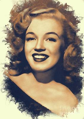 Actors Royalty-Free and Rights-Managed Images - Marilyn Monroe, Hollywood Legend by Mary Bassett