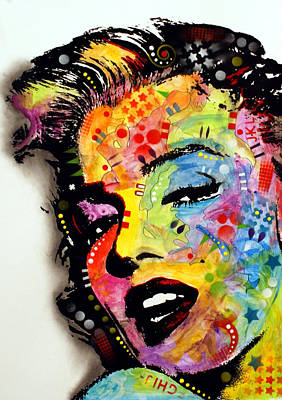 Art Print featuring the painting Marilyn Monroe II by Dean Russo