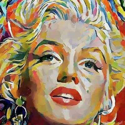 Digital Art - Marilyn Monroe Impressive Portrait 2 by Yury Malkov