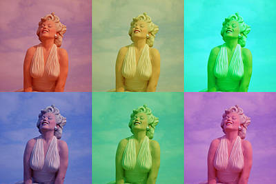 Photograph - Marilyn Monroe In Living Color by Barbara Snyder