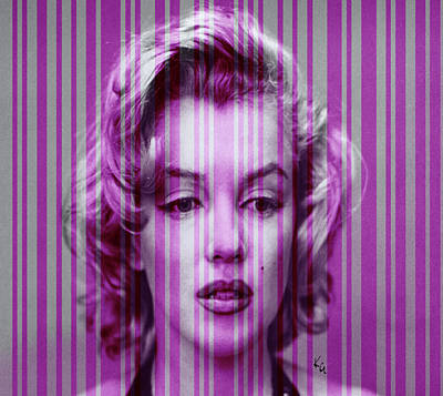 Digital Art - Marilyn Monroe In Purple by Kim Gauge