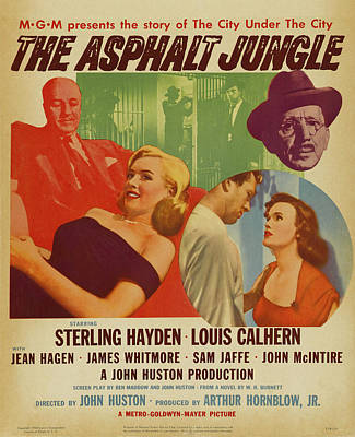 Painting - Marilyn Monroe In The Asphalt Jungle Movie Poster by R Muirhead Art