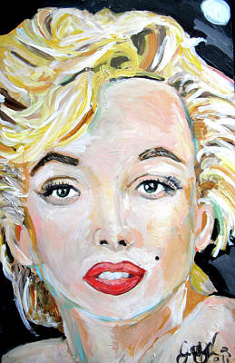 Elton John Painting - Marilyn Monroe by Jon Baldwin  Art