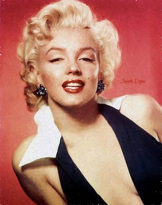 Hairstyle Painting - Marilyn Monroe - Oil Style by Leonardo Digenio