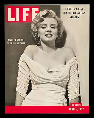 Actors Digital Art - Marilyn Monroe - Life Magazine Cover 1952 by Georgia Fowler