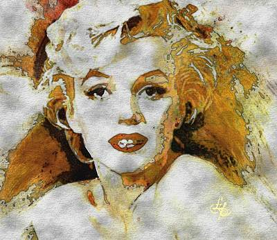 Digital Art - Marilyn Monroe by Lynda Payton