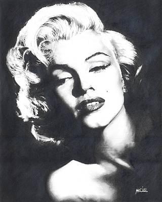 Marilyn Monroe Art Print by Maciel Cantelmo