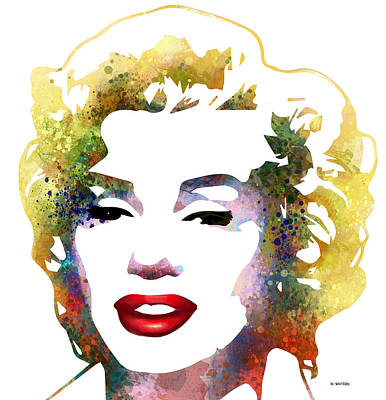 Digital Art - Marilyn Monroe by Marlene Watson