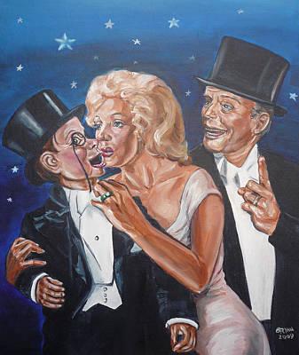 Marilyn Monroe Marries Charlie Mccarthy Art Print by Bryan Bustard