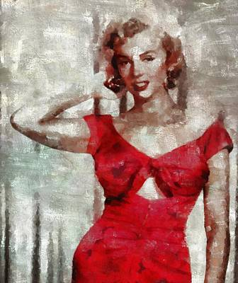 Celebrities Royalty-Free and Rights-Managed Images - Marilyn Monroe by Mary Bassett