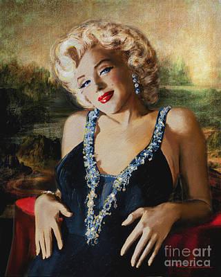 Marilyn Monroe  Mona Lisa  Art Print