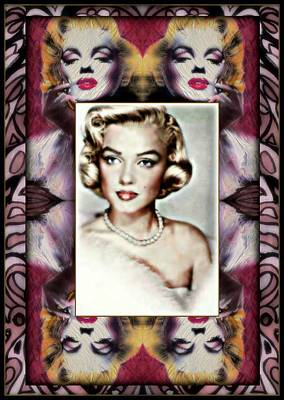 Famous Leading Ladies Painting - Marilyn Monroe-montage by Wbk