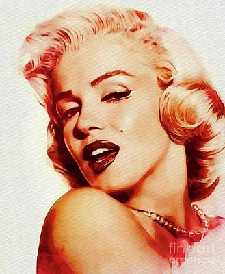 Actors Royalty-Free and Rights-Managed Images - Marilyn Monroe, Movie Star by John Springfield