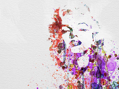 Famous Watercolor Painting - Marilyn Monroe by Naxart Studio