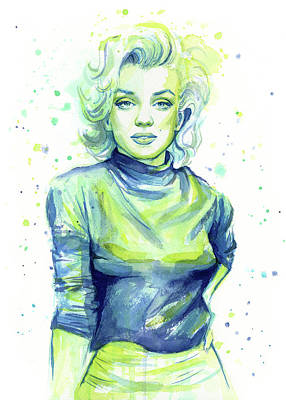 Actors Wall Art - Painting - Marilyn Monroe by Olga Shvartsur