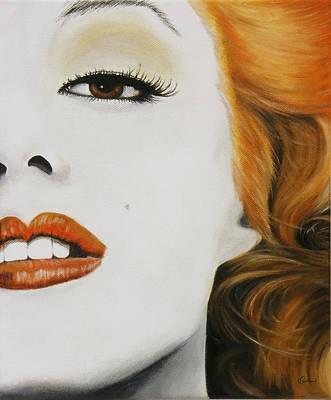 Marilyn Monroe Orange Art Print