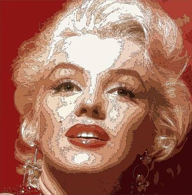 Painting - Marilyn Monroe - Outlines by Samuel Majcen