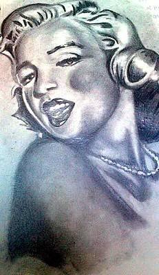 Drawing - Marilyn Monroe by Pauline Murphy