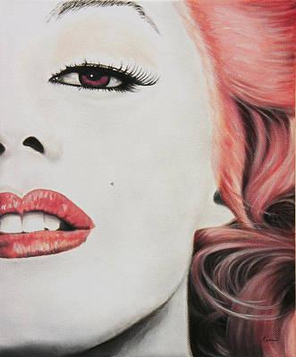 Marilyn Monroe Painting - Marilyn Monroe Pink by Kathleen Wong