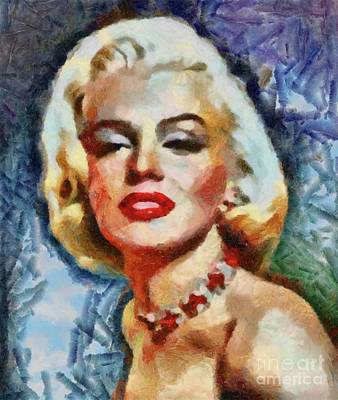 Actors Royalty-Free and Rights-Managed Images - Marilyn Monroe, Pinup and Actress by Sarah Kirk