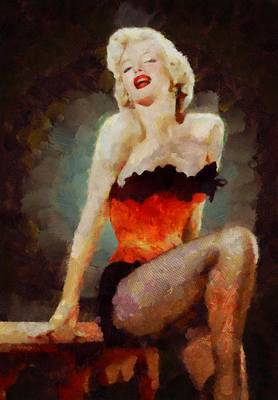 Burlesque Painting - Marilyn Monroe Pinup by Esoterica Art Agency